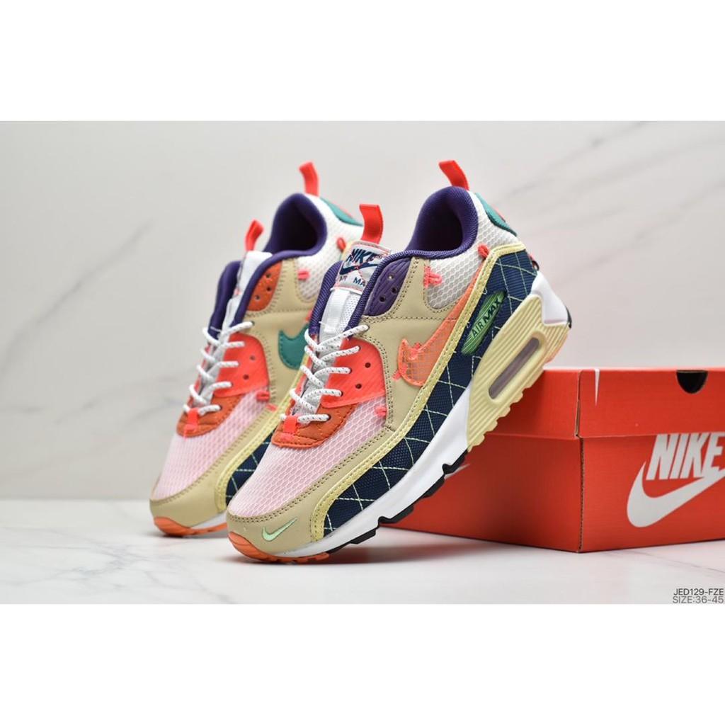 ✅ Nike air max 90 se mesh classic 90 air cushioned running shoes