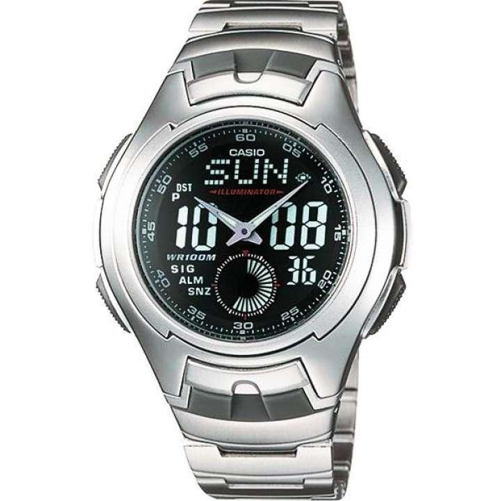 นาฬิกาสำหรับสุภาพบุรุษ นาฬิกา Casio Auto-Illuminator นาฬิกาข้อมือผู้ชาย สายสแตนเลส รุ่น AQ-160WD-1B นาฬิกาของแท้