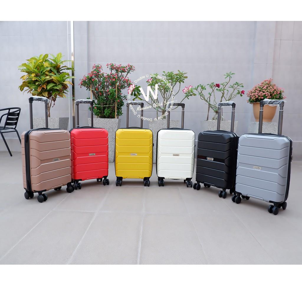 กระเป๋าเดินทาง กระเป๋าเดินทางล้อลาก กระเป๋าเดินทางไซส์18นิ้ว กระเป๋าถือขึ้นเครื่อง เนื้อPP