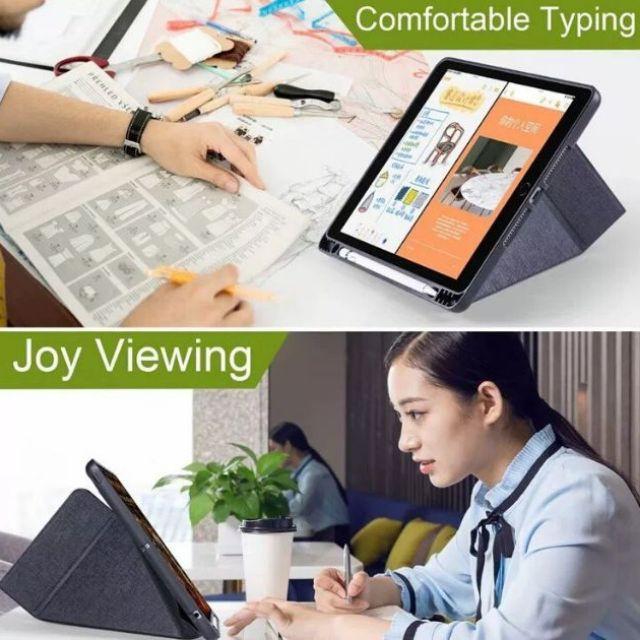 📣✅💯♛เคสไอแพดโปร มีที่เก็บปากกา (Apple Pencil) Logfer แท้ รุ่น iPad Pro 11 2020  iPad 10.5/Air3  iPad 10.2 Gen7  iPad 9