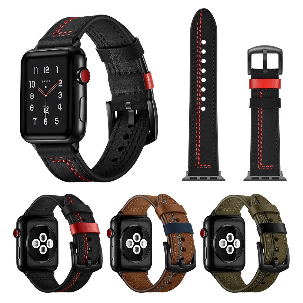 สายคล้องหนัง Apple Watch Series 5 / 4 / 3 / 2 / 1 Apple Watch strap 38 / 40 / 42 / 44 มม.