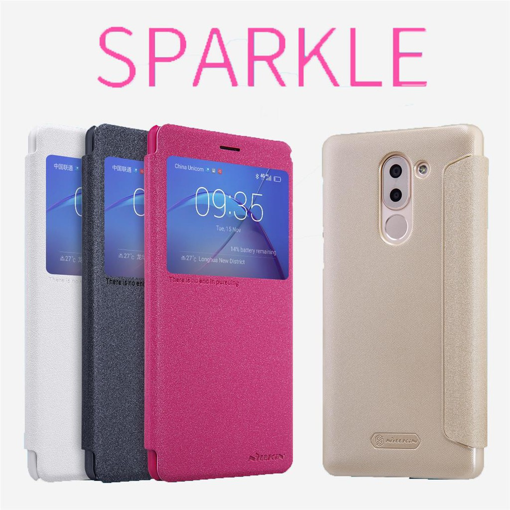 Huawei GR5 2017 - เคสฝาพับ Nillkin Sparkle leather case แท้