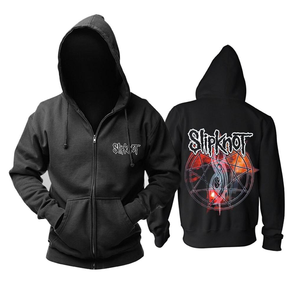 Official Mens Slipknot Hoodie Long Sleeve Hooded Top Hoody Clothing Wear