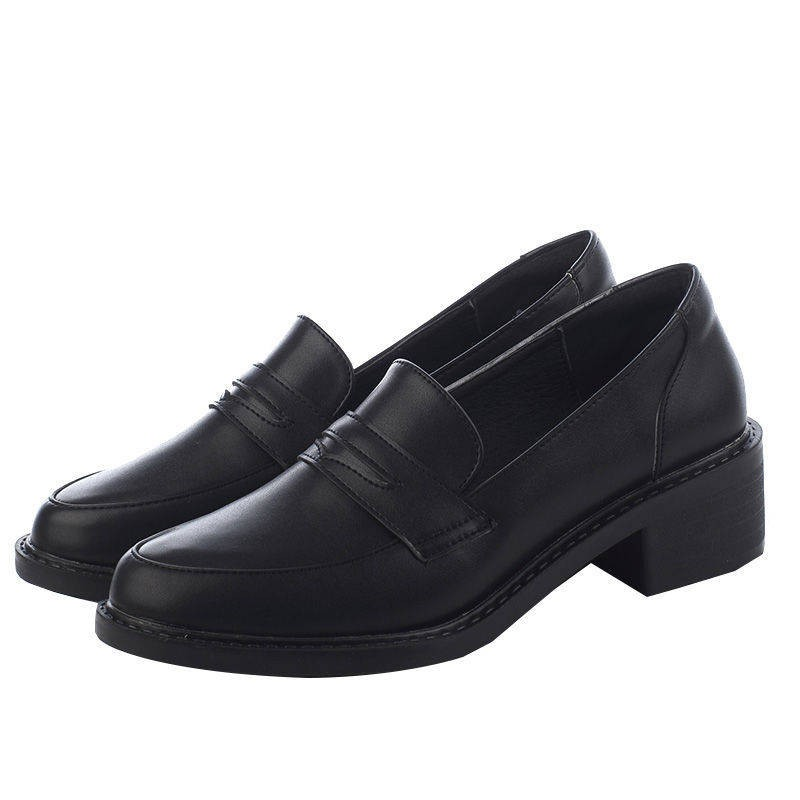 รองเท้าคัชชู รองเท้าผู้หญิง ✫ที่แท้จริงรองเท้าหนังนิ่มหญิง 2021 ฤดูใบไม้ผลิอังกฤษสีดำแบนรองเท้าสุทธิสีแดงเท้าเล็บเท้ารอง