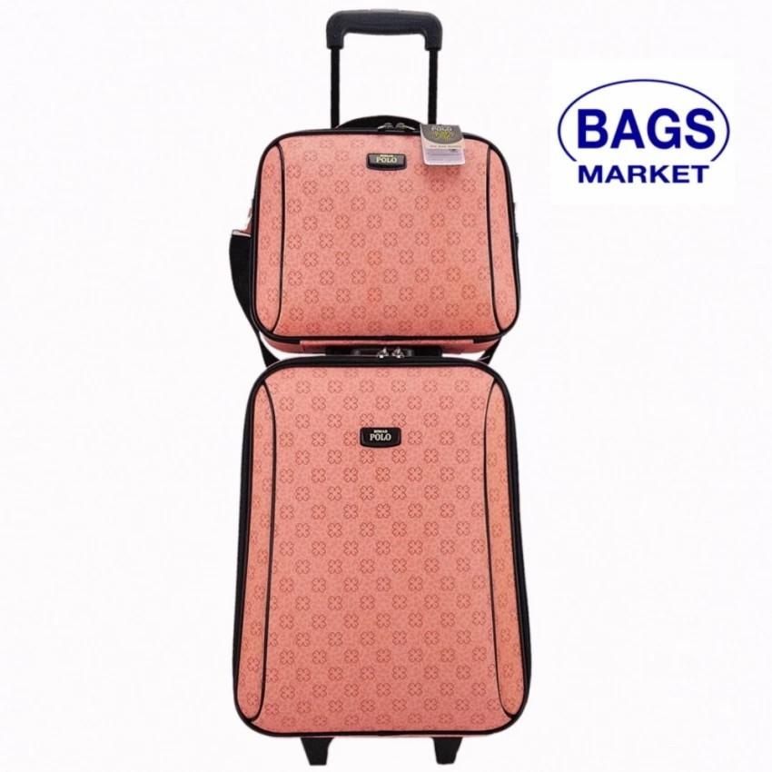 กระเป๋าเดินทาง กระเป๋าเดินทางล้อลาก Romar Polo  20/14 นิ้ว เซ็ทคู่ Code 373-4 Sakura (Pink) กระเป๋าล้อลาก กระเป๋าเดินทาง