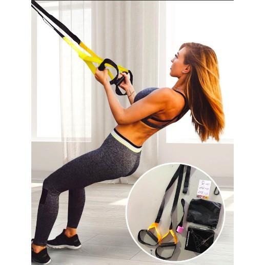 ยางยืดออกกำลังกาย  Fitness Suspension Home Exercise Trainer ผ้ายืดออกกำลังกาย ยางยืดแรงต้าน  ยางยืดออกกำลังกายแรงต้านสูง