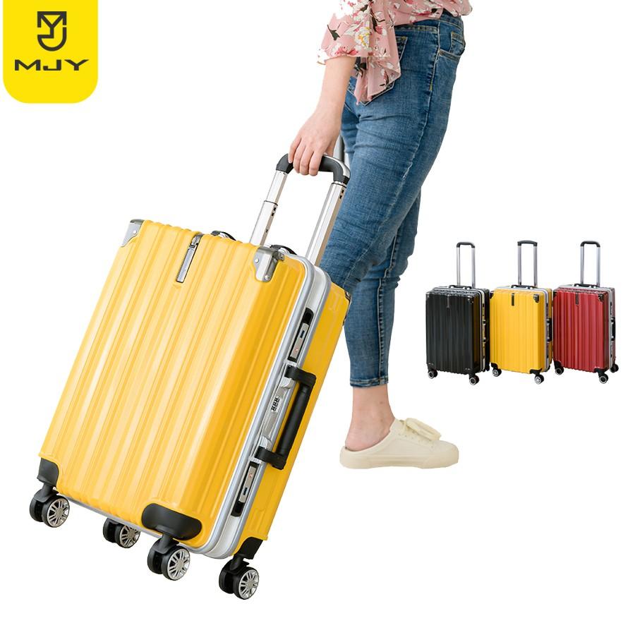 MJY Luggage กระเป๋าเดินทาง20/24/26/28นิ้ว รุ่นซิป วัสดุABS+PCแข็งแรงทนทาน ยอดขายอันดับ1