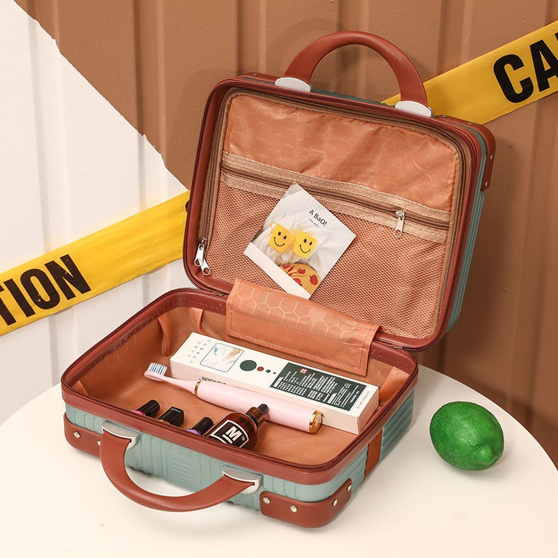 ✗ﺴ☽กระเป๋าเดินทาง กระเป๋าเดินทางใบเล็ก กระเป๋าเครื่องสำอางผู้หญิงน่ารัก ขนาด 14 นิ้ว ขนาดเล็ก น้ำหนักเบา 16 กระเป๋าเดินท