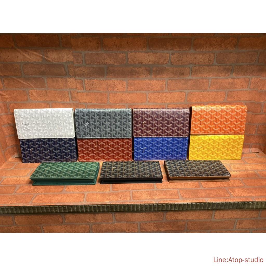 Goyard wallet คลัทช์กระเป๋าบัตรกระเป๋าสตางค์ หนังแท้แบรนด์เนน .Atop