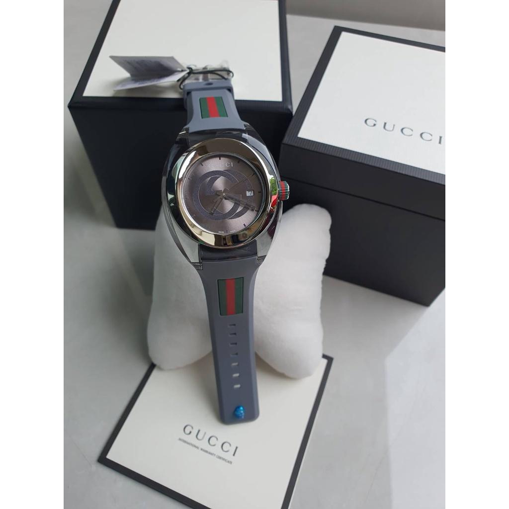 ของแท้100%⚡️พร้อมส่งที่ไทย🎀Gucci Sync  YA137102 Watch Quartz Silver Dial Date Rubber