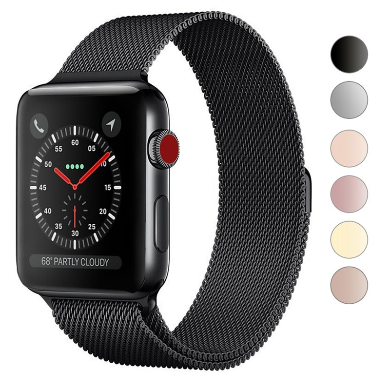 Apple Watch Band 38 40 42 44 mm Strap Series 6 SE 5 4 3 2 1 Band iWatch Bracelet Milanese Stainless Steel Magnetic strap
