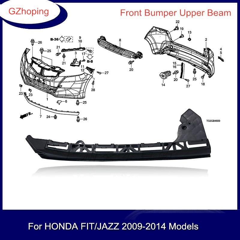 กันชนหน้าสําหรับ Honda Jazz Hybird Ge 6 Ge 8 Gp 1 2009 2010 2011 2012 2013 2014