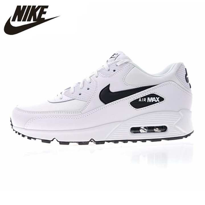 NIKE_AIR_MAX_90_ESSENTIAL สำหรับทั้งหญิงและชายรองเท้าสีขาว Breathable Shock - absorbing น้ำหนักเบาการประมวลผลการกวาดล้าง
