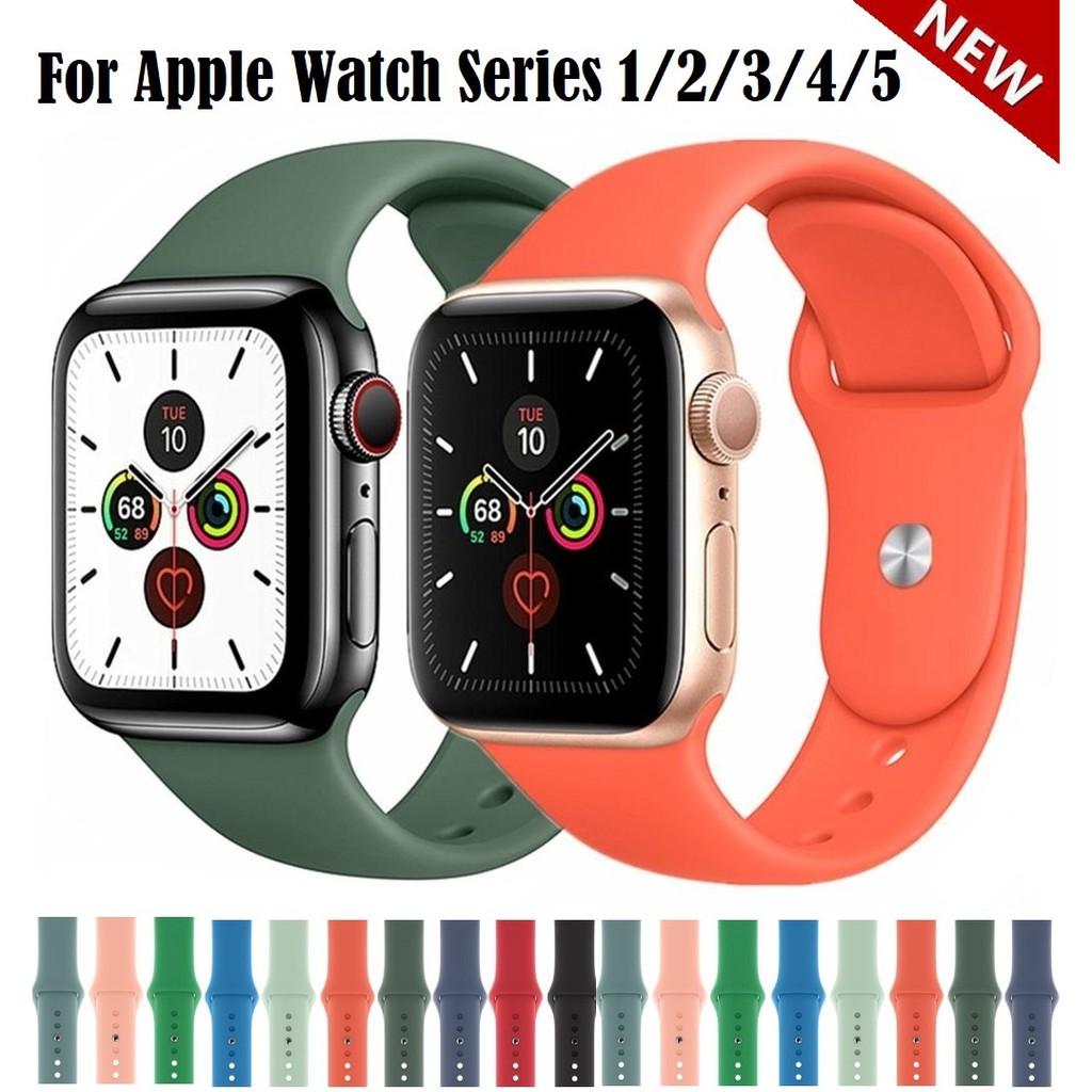 พร้อมส่ง‼️ สายสำหรับ Apple Watch สีมาใหม่ series 6 5 4 3 2 applewatch se, สายสำหรับ apple watch ขนาด 42mm 44mm 38mm 40mm สาย applewatch