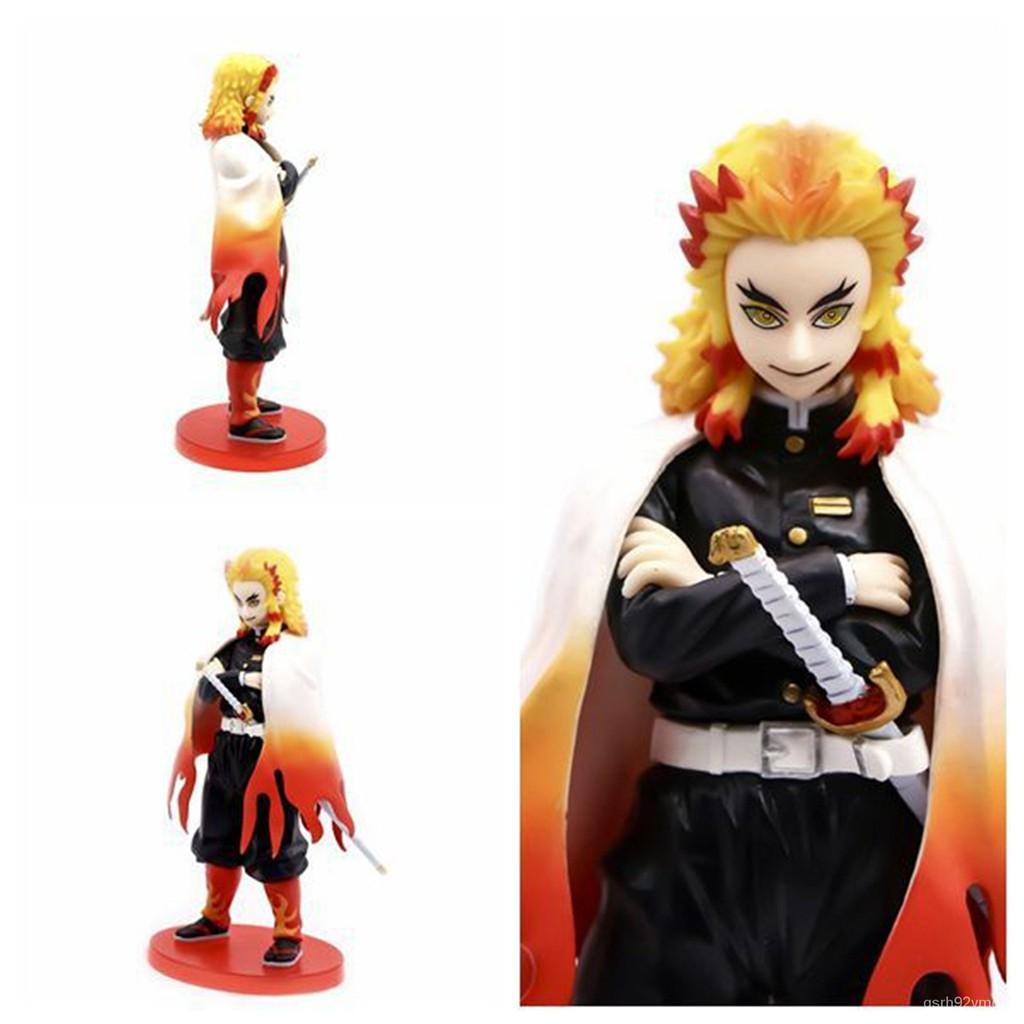 23CM Demon Slayer Rengoku Kyoujurou VC Figure Action Model Toys Model Toys Collection Doll Gifts#¥%¥# TgYy