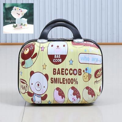เวอร์ชั่นเกาหลีน่ารัก 14 นิ้วกระเป๋าเครื่องสำอางกระเป๋าเดินทางกระเป๋าเดินทางขนาดเล็กหญิงน่ารักกระเป๋าเดินทางมินิ 16 นิ้