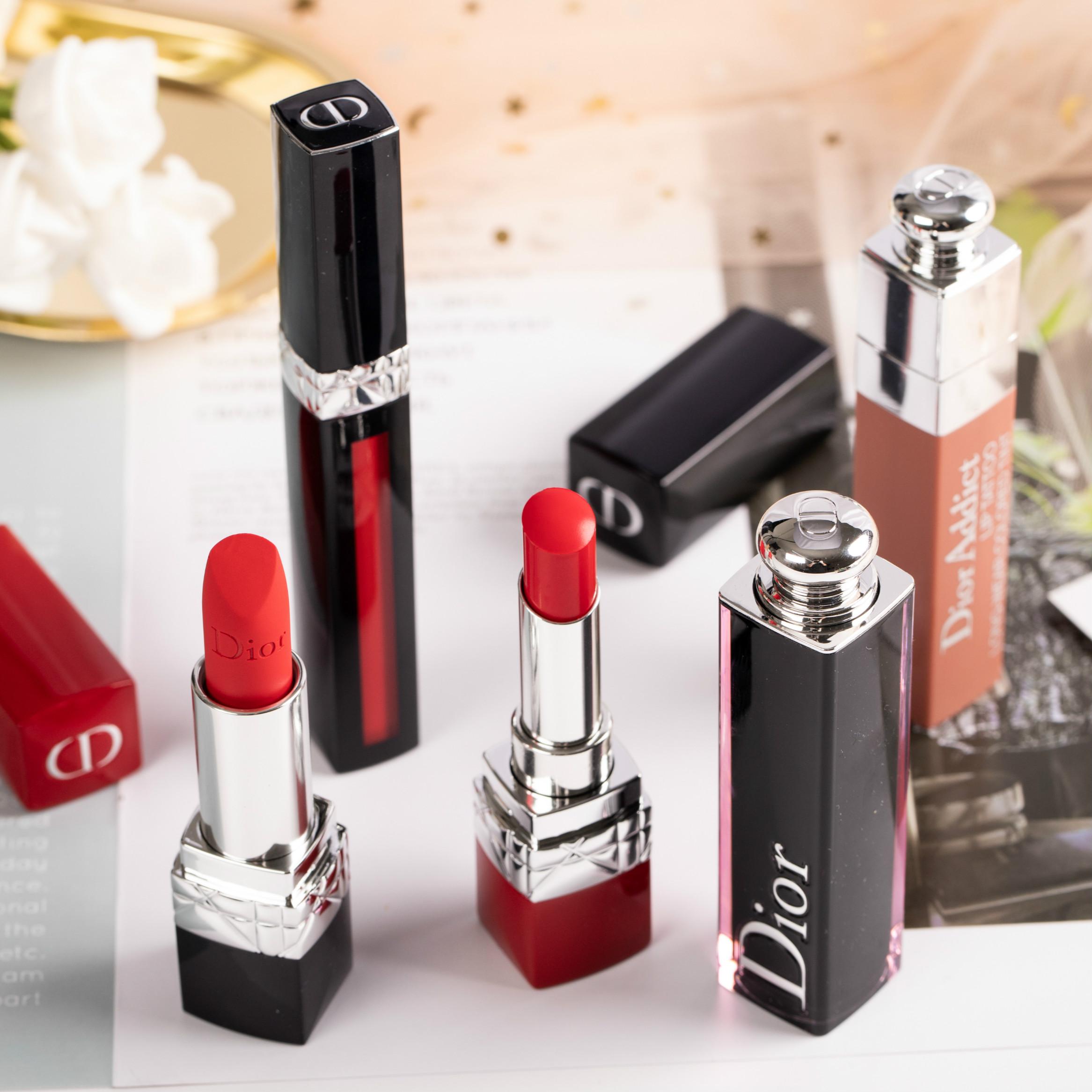 """❦""""🔥จัดส่งที่รวดเร็ว🔥ดินสอเขียนคิ้ว Dior Dior Lipstick 999 Matte 888 Classic 520 Moisturizing 772 Big Brand Genuine Lim"""