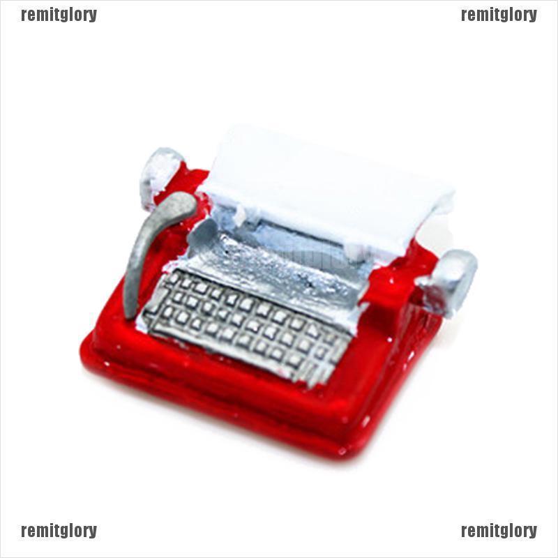 1:12 Miniature typewriter dollhouse diy doll house decor accessories/_kz