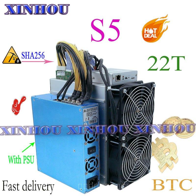 ใช้ BTC BCH Miner XinHou S5 22T SHA256 ASIC Miner กับ PSU ทางเศรษฐกิจมากกว่า M20S M21S M30S T3 T2T antminer S9 S17 S17e
