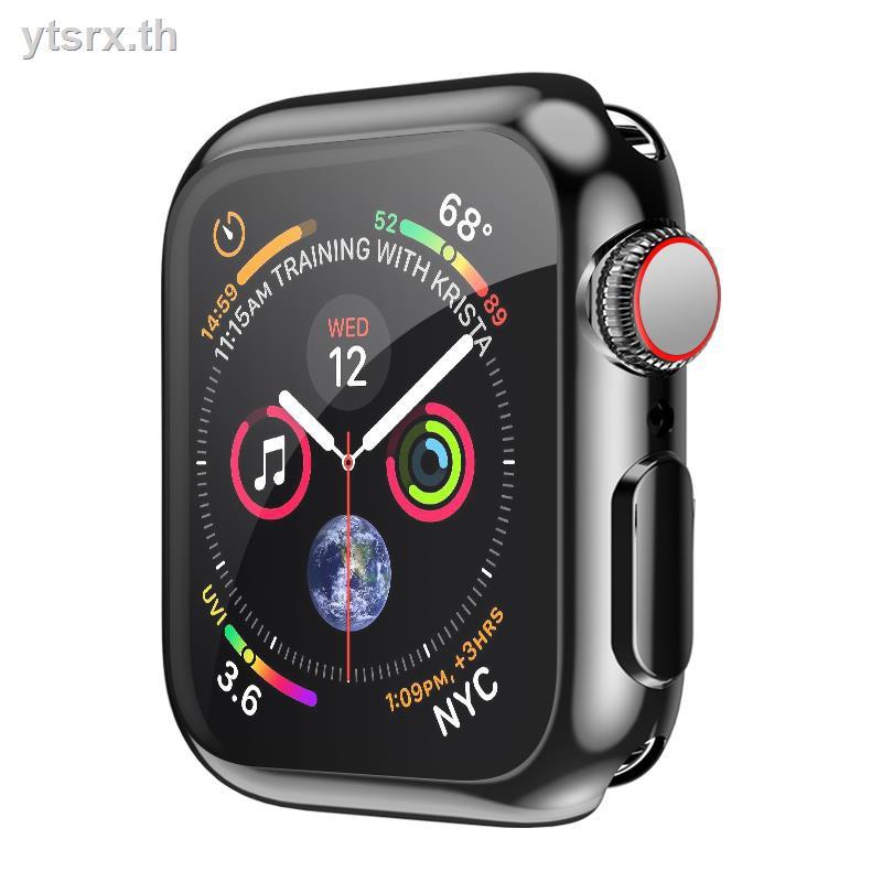 เคสซิลิโคนอ่อนนุ่มสำหรับเคสยางซิลิโคนการ์ตูน Air podsApplewatch6 protective shell film is suitable for Apple watch iwatch4 generation 5/3/2/1 soft silicone cover SE all-inclusive serie4 case 44/42/40/38mm electroplating frame original