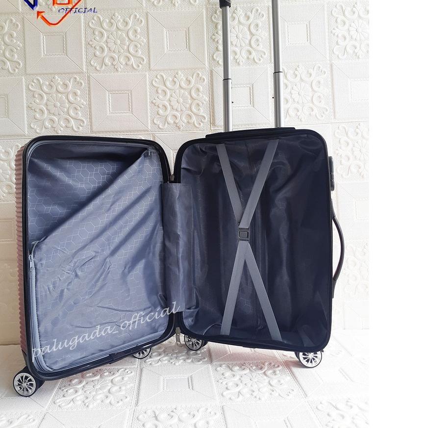 Sgi-614 ชุดกระเป๋าเดินทาง (กระเป๋าเดินทาง 3 ช่อง) Abs 010 24 นิ้ว + เคสไฟเบอร์ 12 นิ้ว 12 นิ้ว
