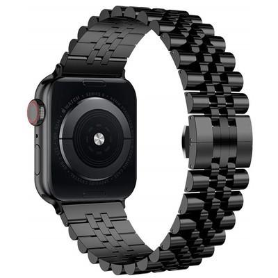 ㇿぅApple iWatch สายนาฬิกาโซ่โลหะสแตนเลส applewatch se/ 6/5/4/รุ่น3/2 Series 38/42 MM4อุปกรณ์เสริมสายนาฬิกา0/44ห้าเม็ดเหล็