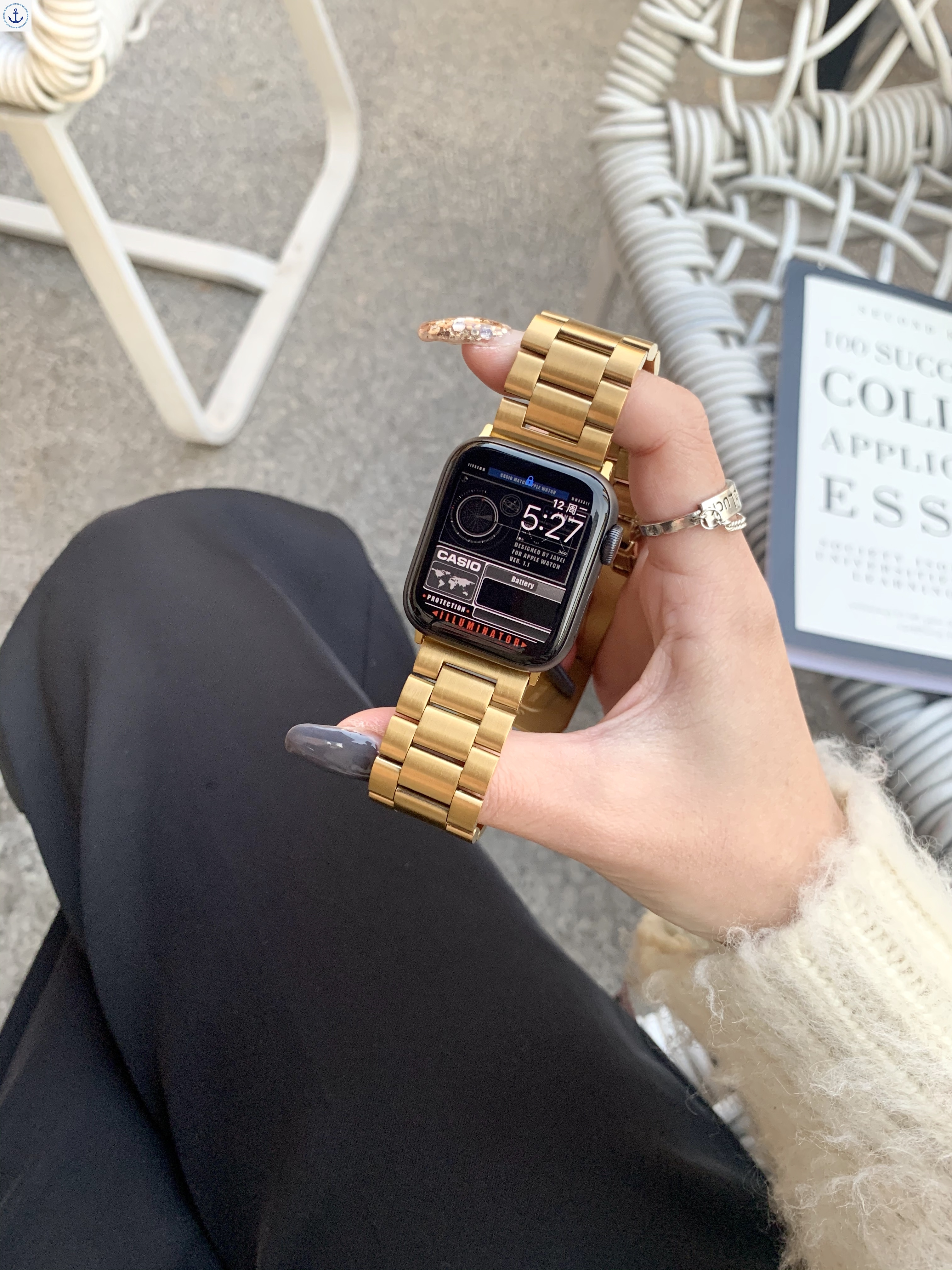 สายนาฬิกาข้อมือสายสแตนเลสสําหรับ Applewatch