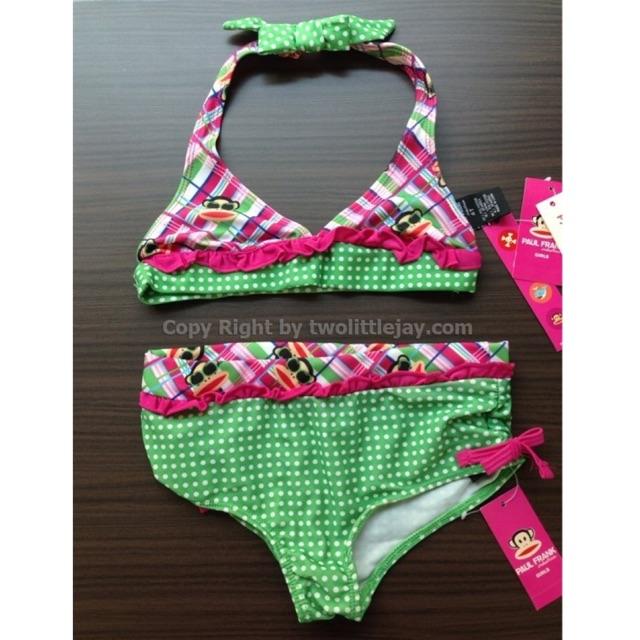 พร้อมส่ง!แท้💯% ชุดว่ายน้ำทูพีช Small Paul by Paul frank USA สีเขียวไซส์ 4T (นำเข้าจากอเมริกา)