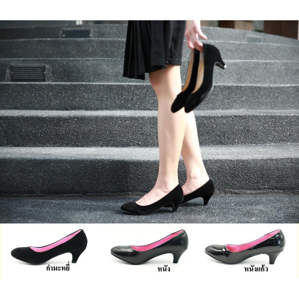 รองเท้า 805 รองเท้าผู้หญิง รองเท้าคัชชู ส้นสูง สีดำ นักศึกษา รองเท้าส้นสูง 2 นิ้ว FAIRY รุ่น 805