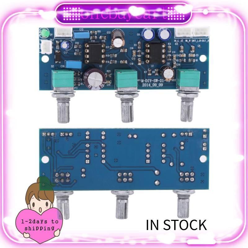 2 1 Channel Pre-amplifier 1pc NE5532 Low Pass Filter Pre AMP