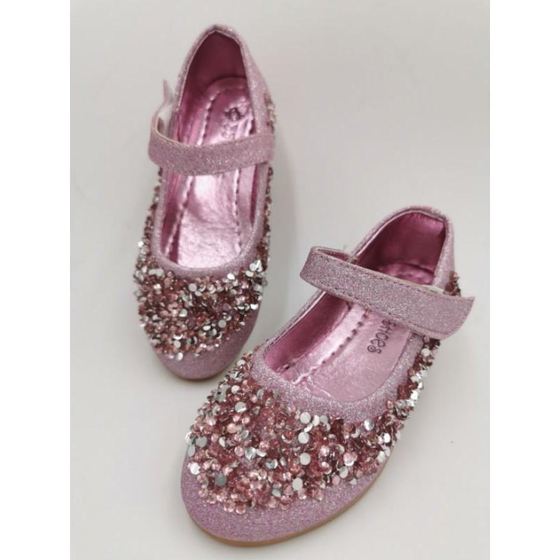 รองเท้าคัชชูเด็ก เจ้าหญิง ประดับคริสตัล ใส่ออกงานใส่ไปเที่ยว