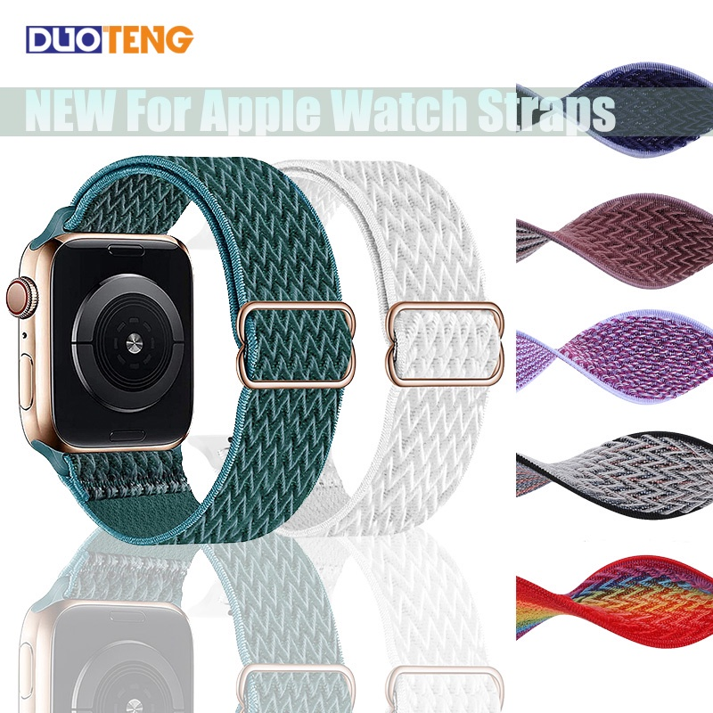 สายนาฬิกาข้อมือไนล่อนสําหรับ Apple Watch Se 6 5 4 40 มม. 44 มม. สําหรับ Iwatch Band Series 3 2 1 42 มม. 38 มม.