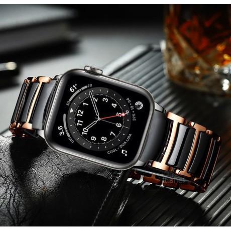 สาย applewatch Luxury Apple Watch Straps Ceramic Stainless steel Watch Watchband for Apple Watch Series 1/2/3/4/5/6,Appl