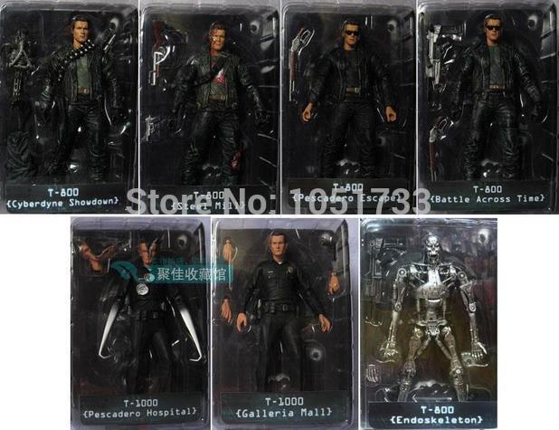 "NECA The Terminator 2 Action Figure T-800 ENDOSKELETON Classic Figure Toy 7""18cm 7Styles"
