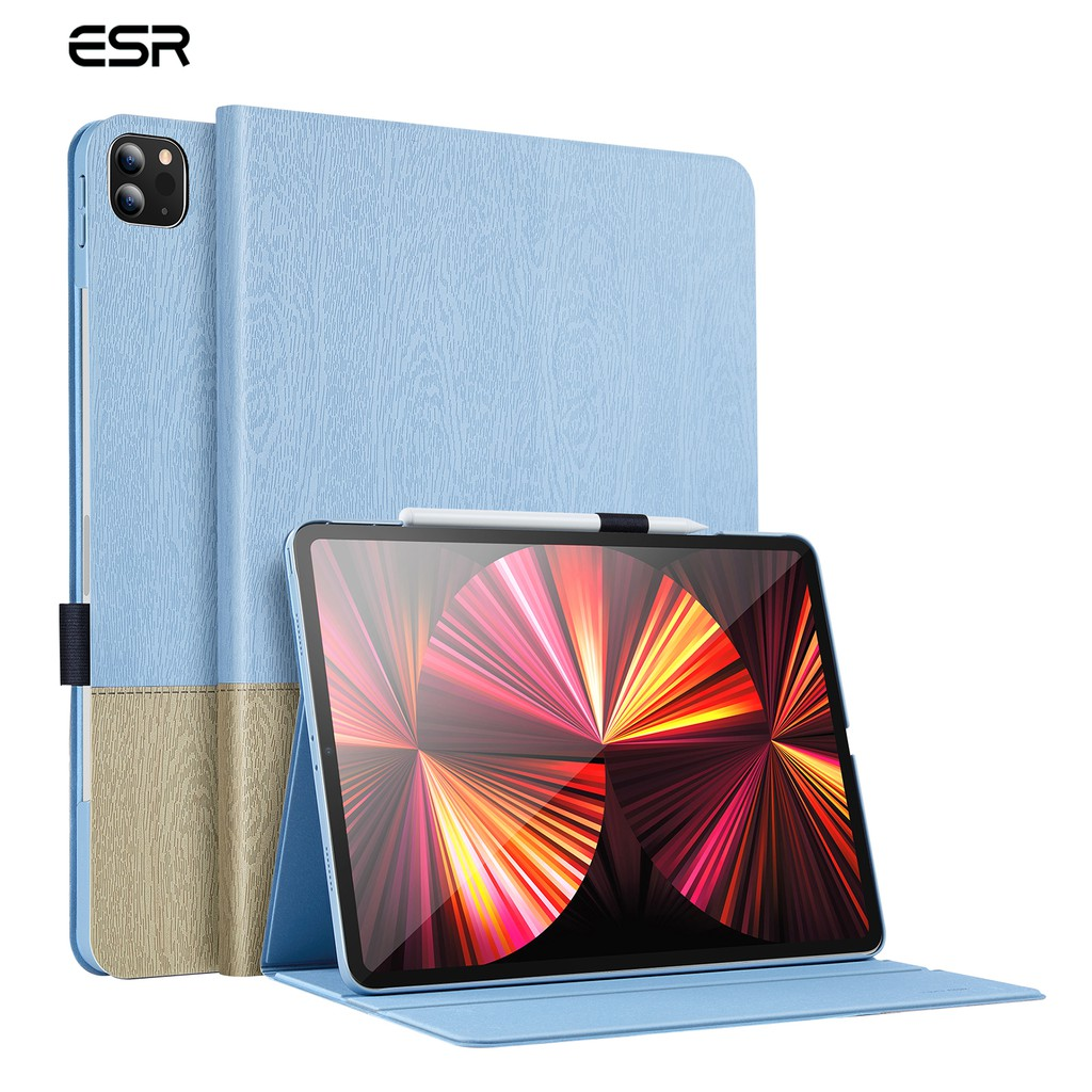 ESR Urban Premium Folio Case for iPad Pro 11 /12.9(2021) [Supports Apple Pencil 2 Wireless Charging] Book Cover Design,