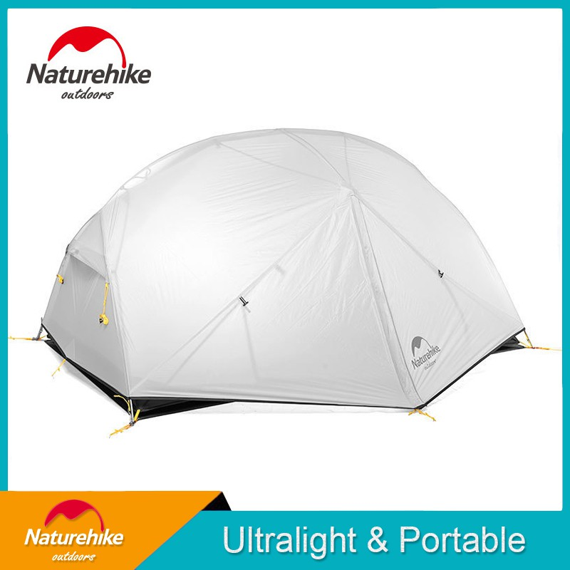 Naturehike Mongar 2 Person Tent 20D Nylon Fabic Double Layer Waterproof Tent for 2 Persons Outdoors Camping Tent euXW