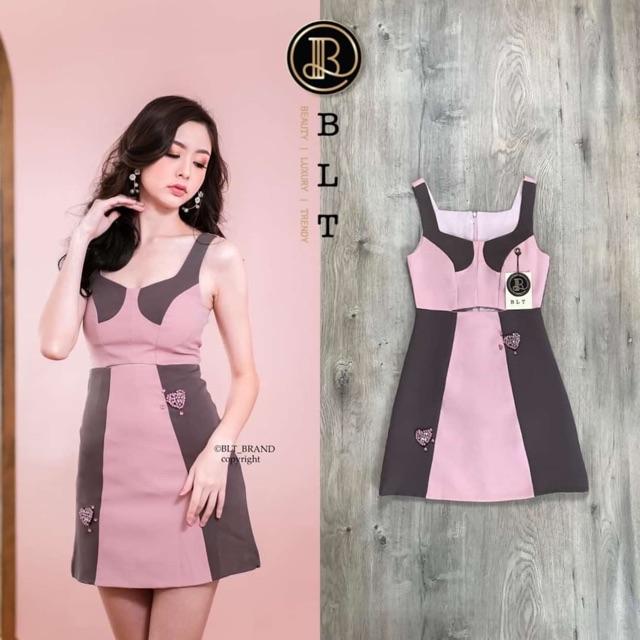 Dress Pink with Granite Grey   BLT Brand size XS