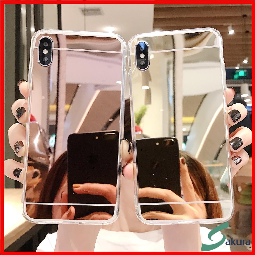 กากเพชรทาเคส Samsung A70 A50 A40 A3 A20 A10 A7 2017 A6 Plus A9 2018 C9 Pro M10 M20 Soft Mirror Case AL 001
