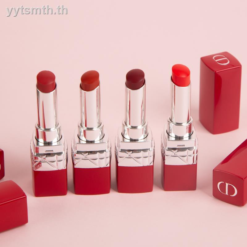 ✑❡❦Dior has brilliant blue mouths fiery red lipstick tube light moisturizing 999/740/888/520 matte paint