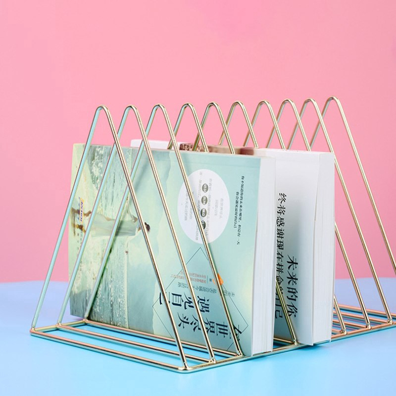 Office Bookshelf Magazine Book Documents Display Organizer Newspapers Stand Storage Holders Rack Home Decor Accessories