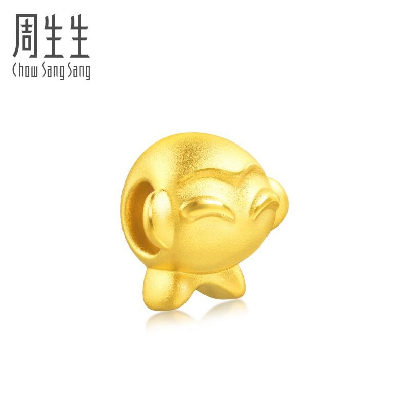 【包邮】โจวSheng Shengเท้าทองCharmeสร้อยข้อมือทองราศีลิงโอนลูกปัดสร้อยคอจี้86423cราคา