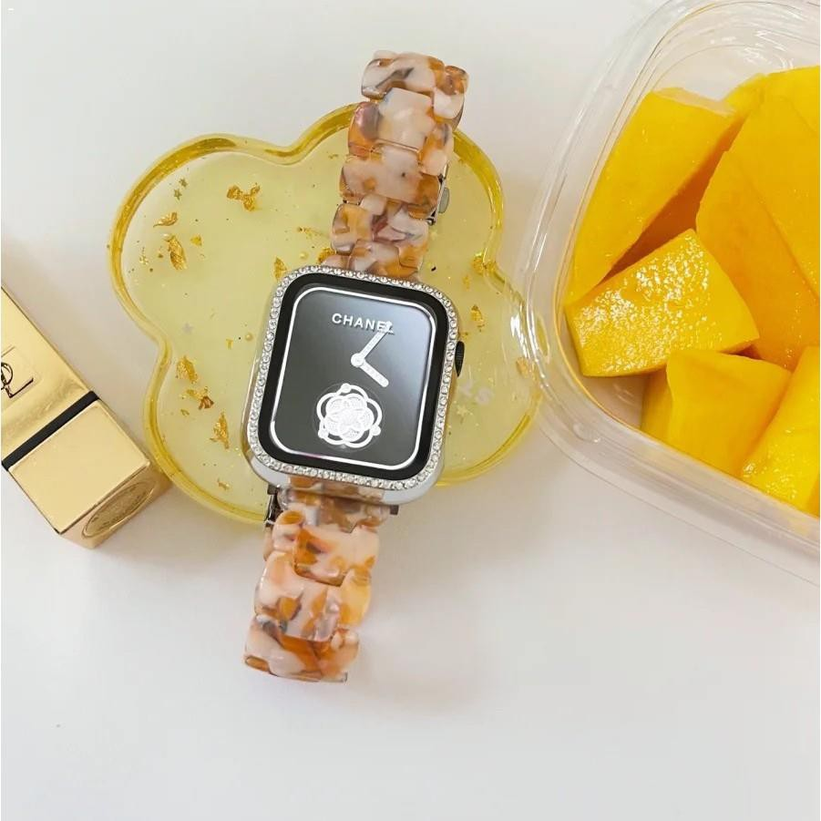 Apple Watch Resin Straps Applewatch Series 6 5 4 3 2 size 38mm 40mm 42mm 44mm SE Stainless Steel Watchband for Series6