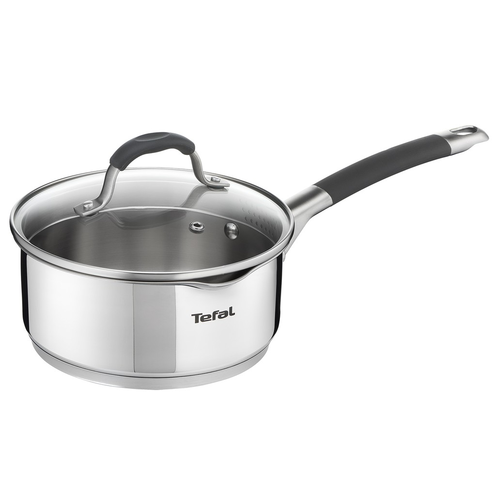 Tefal ILLICO Stainless Steel Induction Sauce Pan (16cm 1.3L) Dishwasher Oven Safe No PFOA Silver