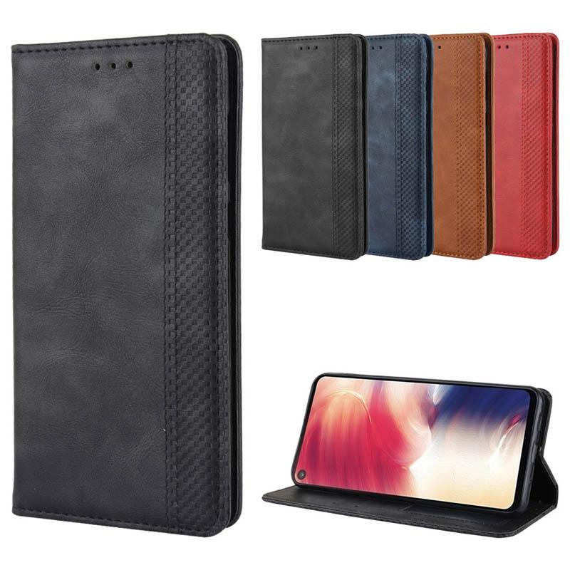 Retro Leather Case Samsung Galaxy A9 Star Pro A7 2018 A9S A8S A6S A01 J6 J4 Prime Plus Core X Cover 4S 4 Pro Flip Cover