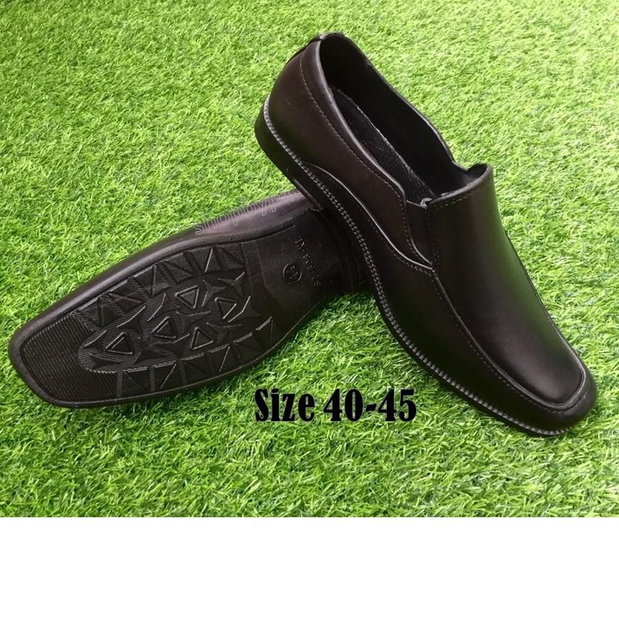 รองเท้าคัชชูผู้ชายสีดำ 💥มีบริการเก็บปลายทาง💥 งานยาง/ทรงสวย/นุ่มเท้า