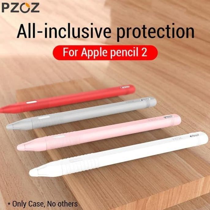 เคสซิลิโคนสําหรับใส่ปากกาดินสอสีชมพูสําหรับ Apple Pencil Case 2