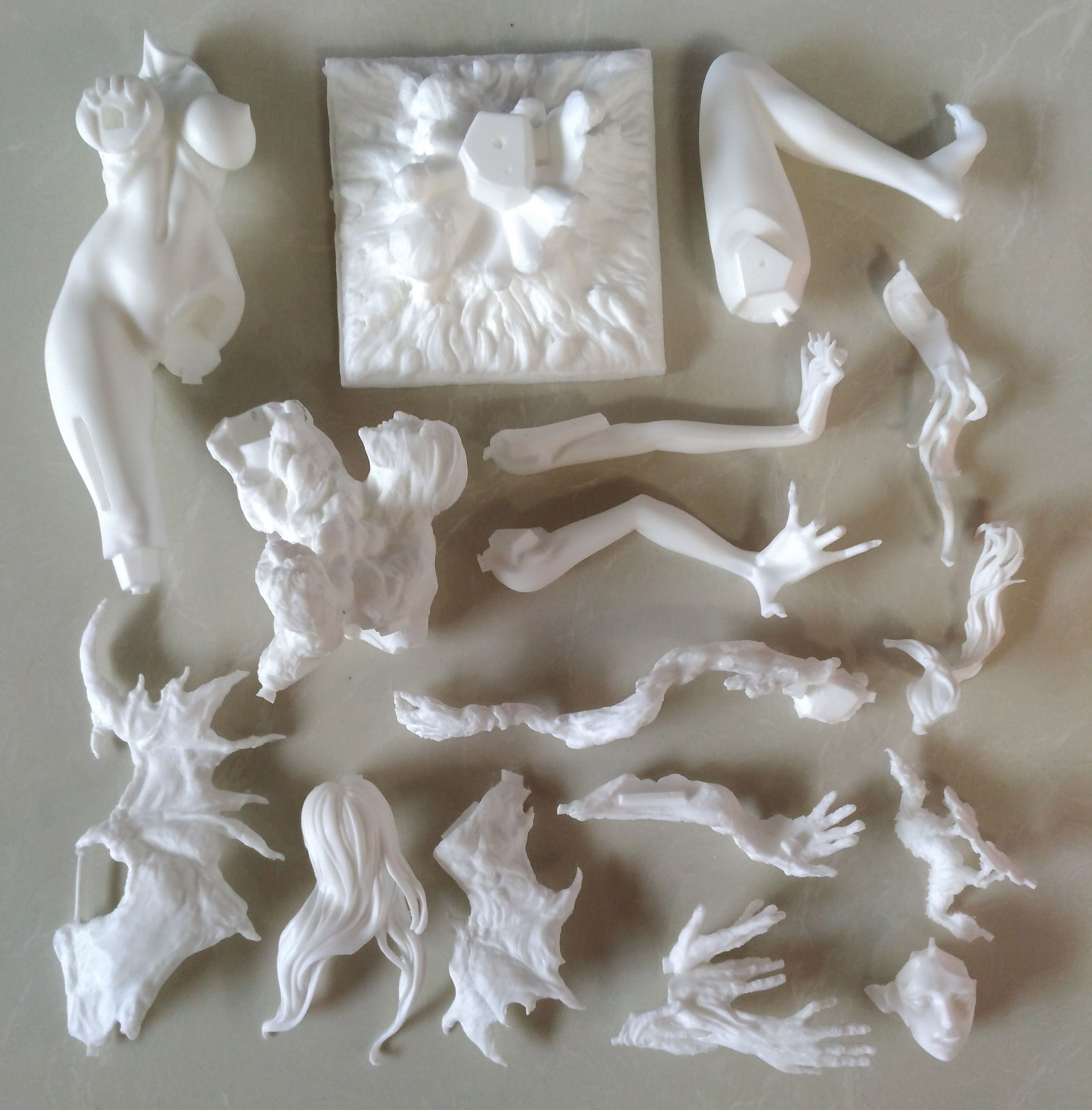 Garage Kit Unpainted Garage Resin Model Kit SUCCUBUS Resin Figure Kit
