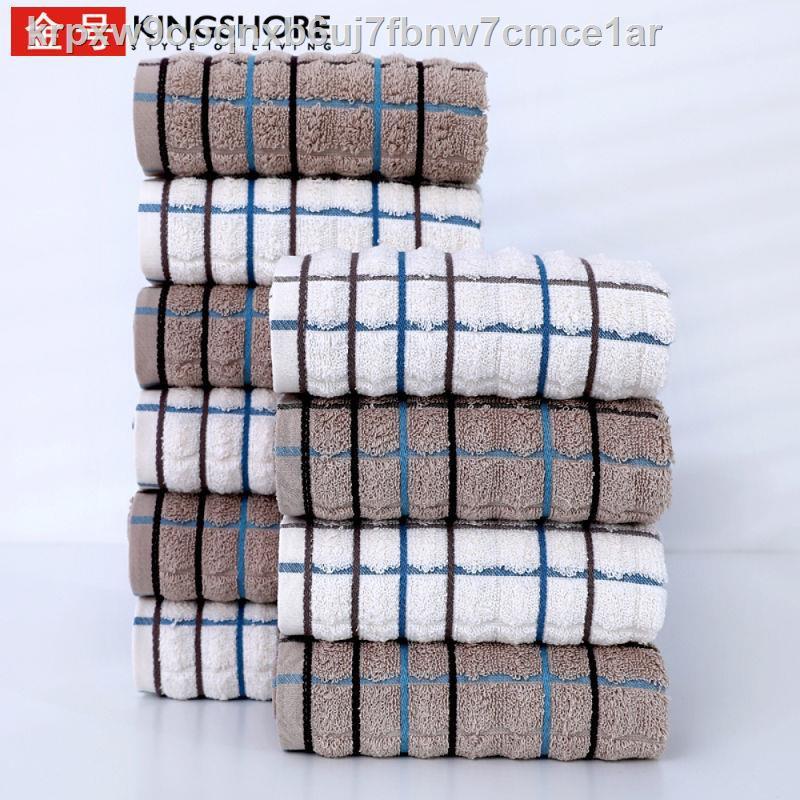 ราคาถูกพร้อมส่ง○ผ้าขนหนูทองคำ 10 แถบผ้าเช็ดหน้าผู้ใหญ่ผ้าขนหนูนักเรียนขายส่งผ้าเช็ดหน้าสำลีทองคำแท้
