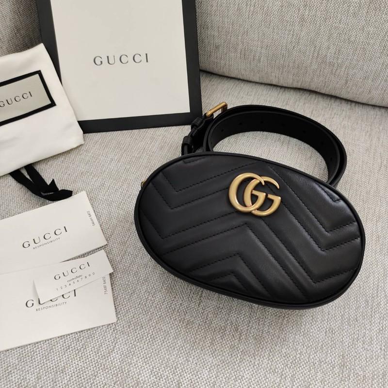 👑ผ่อน0%~แท้100%👑 กระเป๋าคาดอก GUCCI GG Marmont Matelassé Leather Belt Bag