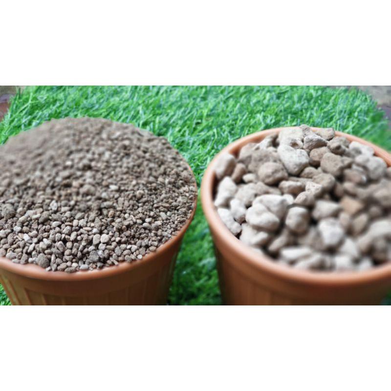 หินภูเขาไฟ หรือ Pumice Stone เบอร์ 00 และ 02 ใช้รองก้นกระถาม ผสมดิน โรยหน้าดิน สำหรับกระบองเพชร ไม้อวบน้ำ ไลทอป บอนไซ